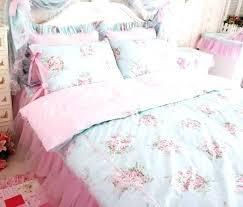 vintage curtains and bedding rose bedding princess pink blue fl rose bedding duvet comforter cover set