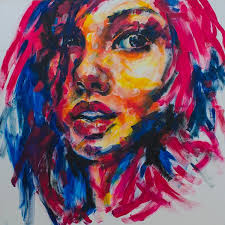 best expressionism definition ideas abstract  acrylic paintings of absract faces fine art girl portrait abstract face painting by