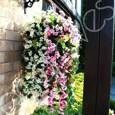 fake flower hanging baskets handmade large trailing artificial basket outdoor silk fake flower hanging baskets