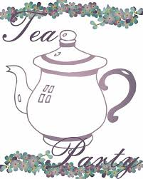 Tea Party Free Printables Tea Party Free Image And Printables On Clip Art Library