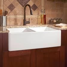 Apron Front Kitchen Sink White 33 Reinhard Double Bowl Fireclay Farmhouse Sink White
