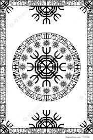 Viking Patterns Custom Illustration Of Viking Runic Panel