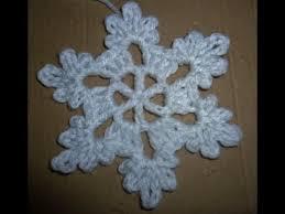 Schneeflocke Häkeln Eisblume Eiskristall Baumschmuck Baumanhänger Stern Crochet Anfänger