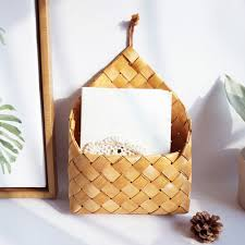 wall mounted wooden hand woven fruit