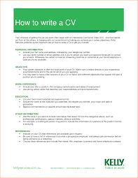 How To Write A Cv - Job Resume Template Sample