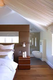 modern bedroom with bathroom. Beautiful Bedroom BedroomsRustic Modern Bedroom With Bed And Frosted Glass Room  Divider Near Bathroom Attic Inside