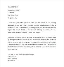 sample agreement letters rental agreement letter sample sample rental agreement letters