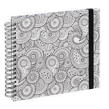00002387 Hama Spiral Buch Colorare 28x24 Cm 50 Weiße Seiten