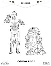 C 3po And R2 D2 Colouring Pages Get Coloring Pages