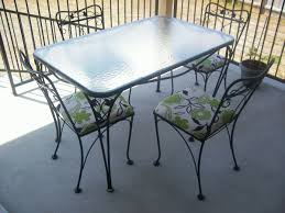 wrought iron vintage patio furniture. Wonderful Salterini Patio Furniture House Remodel Pictures 5 Piece Wrought Iron Table And Chairs Vintage R