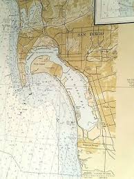 Vintage Noaa Nautical Chart Of San Diego Bay Approaches