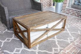 Diy Coffee Table Diy Outdoor Coffee Table With Storage Crazy Wonderful