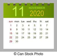 November 2020 Calendar Clip Art November 2020 Illustrations And Clip Art 1 450 November