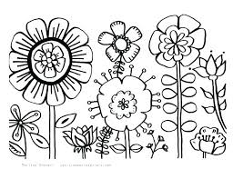 Spring Flowers Coloring Pages Printable Spring Flower Coloring Page