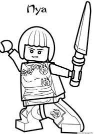 Ninjago Coloring Pages Nya Coloring Pages For Familly And Kids