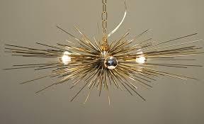 gold urchin chandelier lighting stimulight with regard to modern inspirations 4