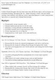 design resume example professional floral designer templates to showcase your talent