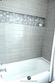 light gray glass subway tile light gray subway tile bathroom grey subway tile shower our bathroom