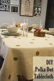DIY Polka Dot Tablecloth for Thanksgiving Dinner