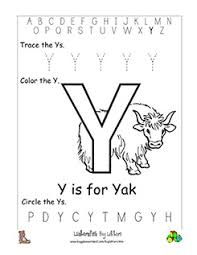 Free printable english letter 'aa' colouring worksheets for esl, ell, and early learners. Letter Y Alphabet Worksheets