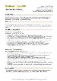 Bank Teller Description For Resumes Customer Service Teller Resume Samples Qwikresume