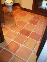 Terracotta Floor Tiles Kitchen Terracotta Floor Love The Small Turquoise Tile At The Corners