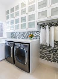 Photo By: Julie Soefer Photography. Contemporary Black and White Laundry  Room ...