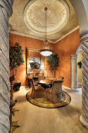 style dining room paradise valley arizona love: tuscan style dining room with round plush area rug paradise valley arizona