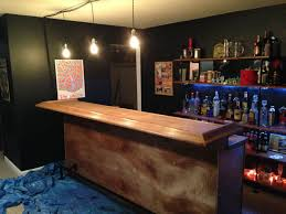 home bar with light