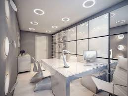 modern home office featuring glossy white. Bedroom. Modern Home Office Featuring Glossy White