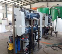 salt water electrolysis sodium hypochlorite generator chlorine ion plant for water treatment