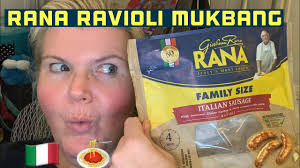rana italian sausage ravioli mukbang