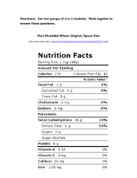 reading a nutrition label reading a nutrition label