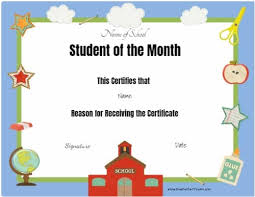 Student Of The Month Certificates Free Editable Printable Student Of The Month Certificate