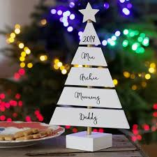 Personalised Family Christmas Tree Standing Decoration