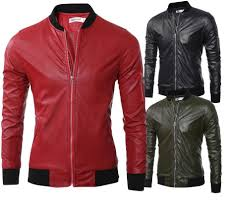 2019 2017 men s leather fashion baseball collar design pure color short leather jacket men s jacket type motorcycle from benedica 119 68 dhgate com
