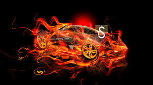 lamborghini egoista up fire abstract car