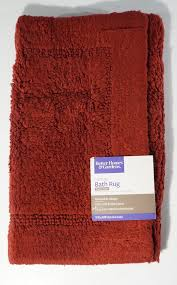 new better homes and gardens thick plush cotton reversible bath rug set of 2