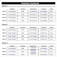 Weekly Exercise Schedule Chart Template How To Create A Workout ...