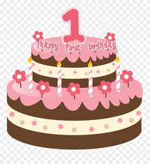 Cake Clipart 1st 1st Happy Birthday Cake With Name Png Download