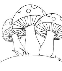 cute mushroom coloring pages 6