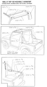 jeep wrangler hardtop wiring instructions jeep installation instructions for suzuki samurai 1 piece hardtops on jeep wrangler hardtop wiring instructions