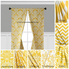 Yellow Curtains For Living Room Modern Curtains Etsy