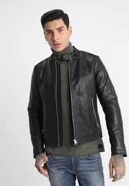 motac dc biker jkt leather jacket dark black