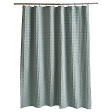 Wide Waffle Shower Curtain Aqua Fieldcrest Target
