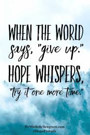 Christian Saying And Quotes Best of Saying About Hopes And Dreams Don't Give Up There Is Always Hope