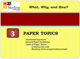 paper topics what why and how ppt video online  3 paper topics what why and how