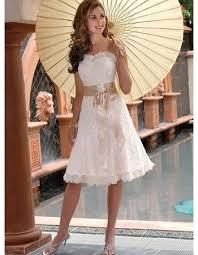 romantic a line short lace reception wedding dresses stylish