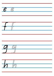 Queensland Cursive Alphabet Chart Alphabet Handwriting Worksheet Qld Beginners Font