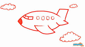 airplane drawing for kids. Interesting Drawing How To Draw An Airplane  Step By Drawing For Kids Educational  Videos By Mocomi And For A